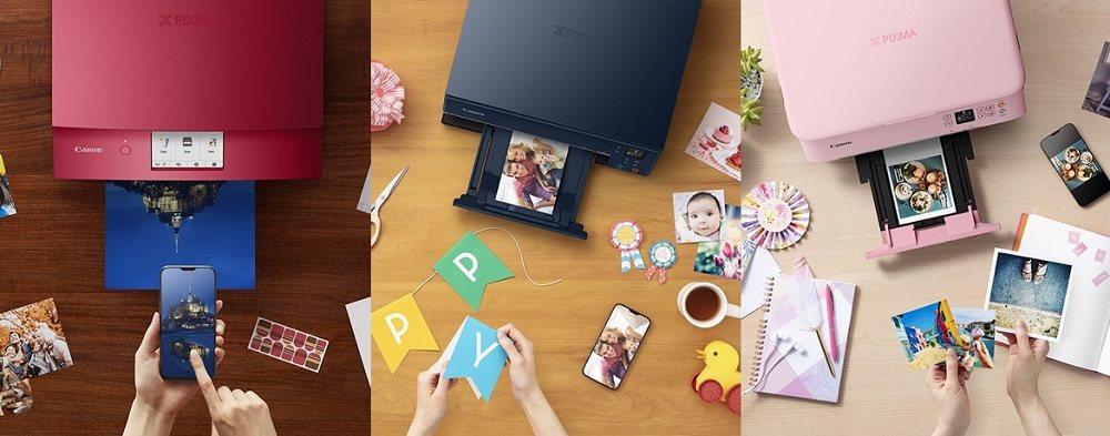 Các máy in phun của Canon vừa được dùng in ảnh, vừa in tại lại trong văn phòng với nhiều màu sắc cho người dùng lựa chọn.